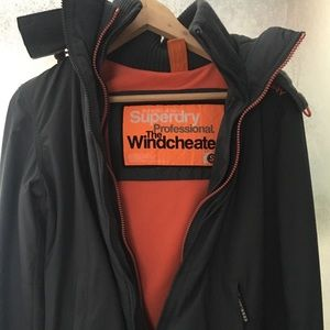 Superdry hooded zip up polar windcheater S